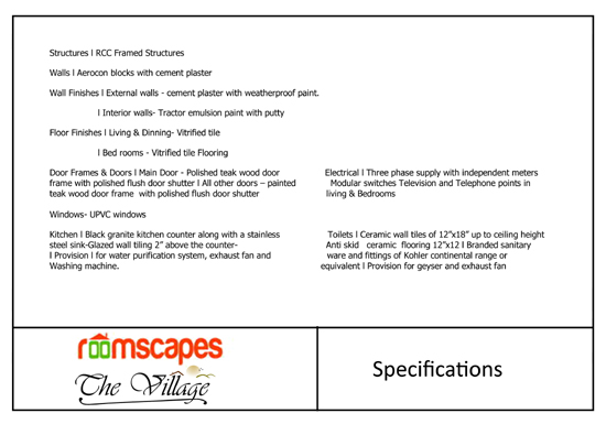 The Village - 90 Villas - Thalamabur